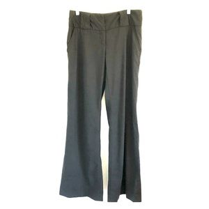Diane Von Furstenberg Silk Black Wide Leg Pants